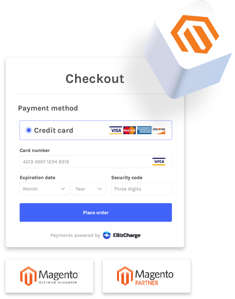 accept credit card payments in magento