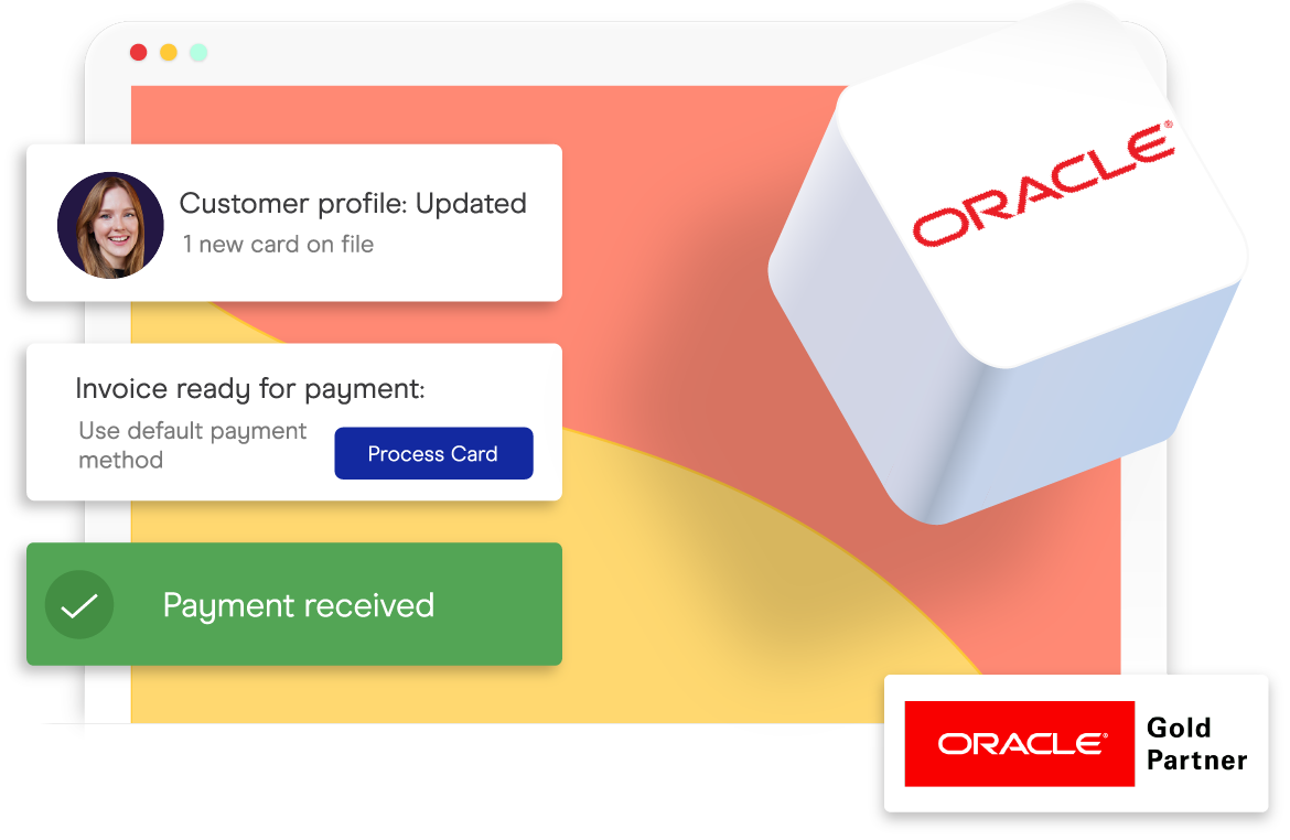 accepting credit card payments inside of oracle