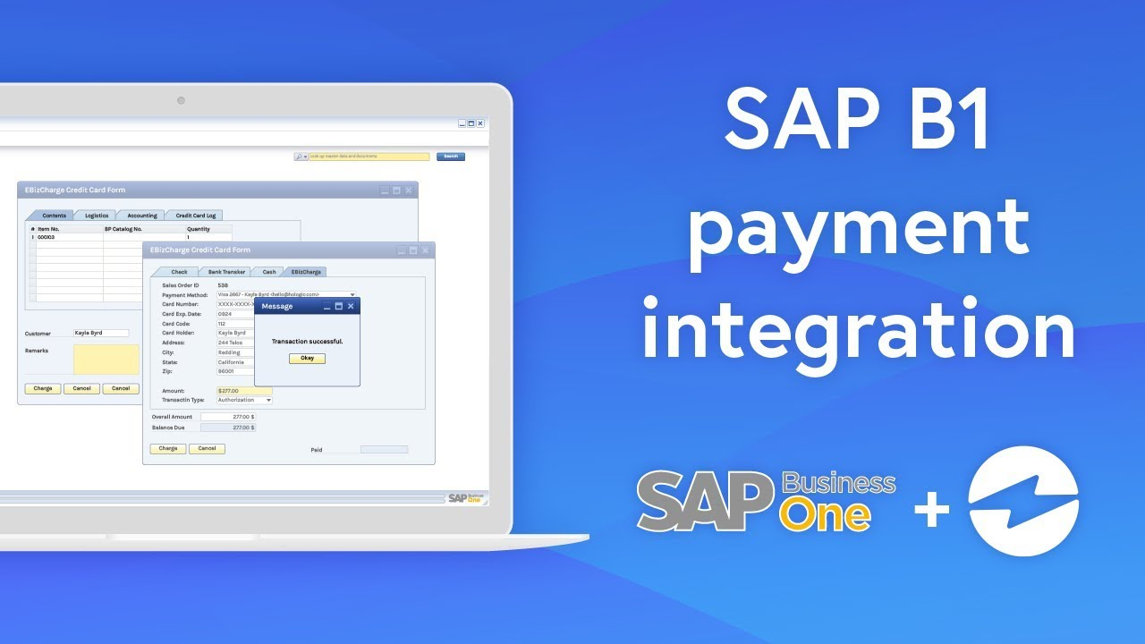 credit card processing in sap business one  ebizcharge
