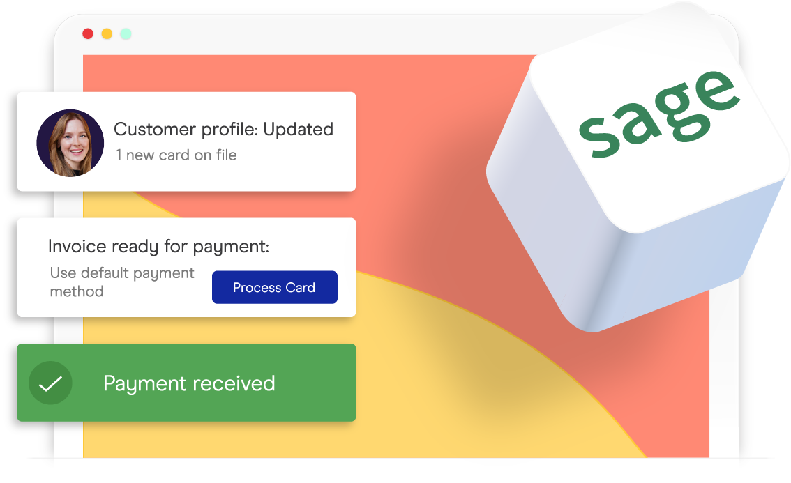 accepting credit cards inside of sage