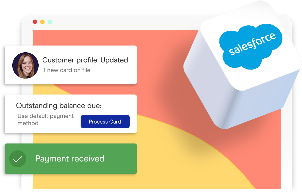 accepting credit cards inside of salesforce
