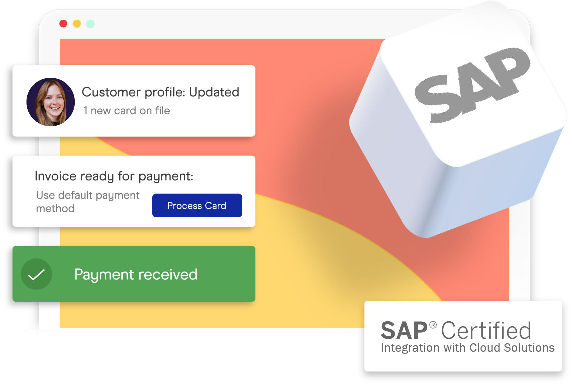accepting credit cards inside SAP