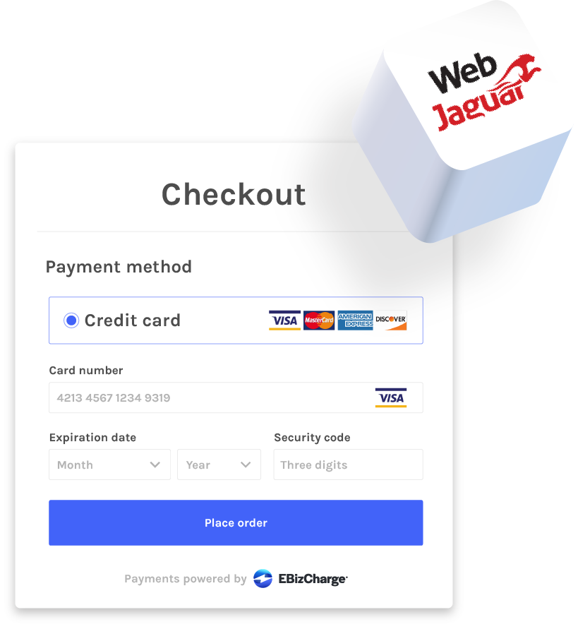 accept credit cards in webjaguar