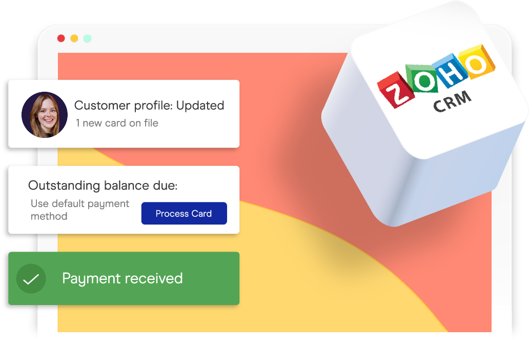 accepting credit card payments inside of zoho crm