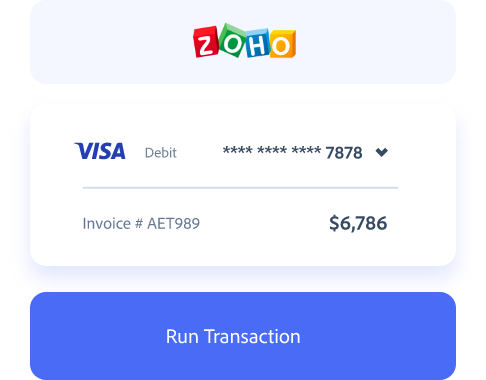 ZOHO payment processing